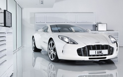 White Aston Martin One-77 Wallpaper